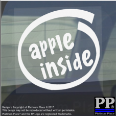 1 x Apple Inside-Window,Car,Van,Sticker,Sign,Vehicle,Macbook,Pro,Air,27,iphone